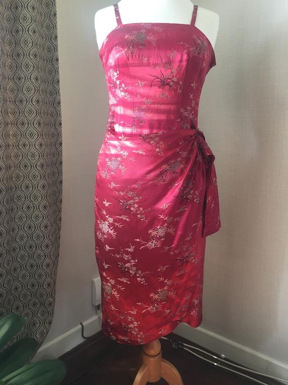 1950s Sarong style dress