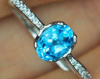 London Blue Topaz Sterling Silver 925 Ring UCTP19