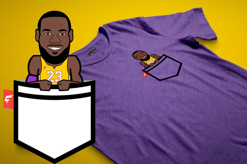 a03fa6a0d LeBron James Fauxket Tee Los Angeles Purple and Gold Edition | Etsy