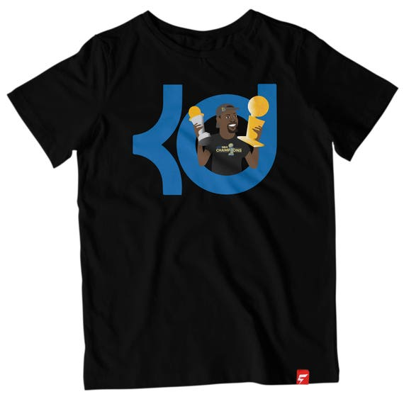f9cb22a9a24 Kevin Durant Back-To-Back Finals MVP KD Logo Tee