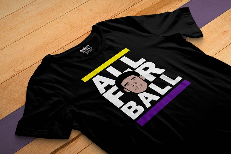 new product 8f239 2814e ALL FOR BALL (Black) - Lonzo Ball #2 Pick - Los Angeles - Big Ballers