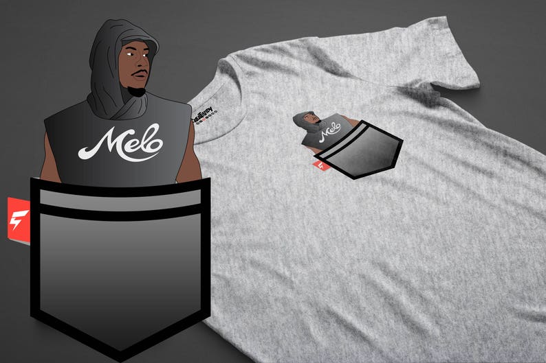 c63a6846bac Hoodie Melo Carmelo Anthony Fauxket Tee   Etsy