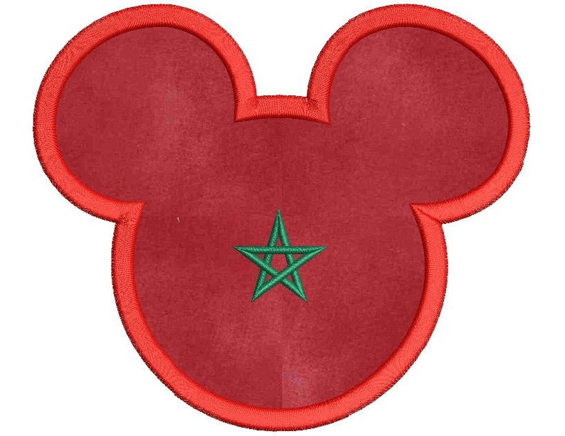 Disney mickey mouse morocco applique embroidery design etsy