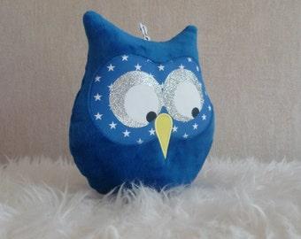 Blue roy musical OWL cushion
