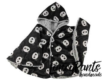 infant poncho Made to order reversible double minky navy wilderness navy car seat poncho car seat cape toddler poncho