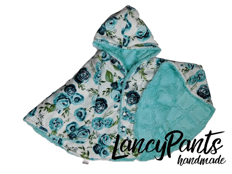 Ready to ship Toddler size 2T-4T  reversible turquoise image 0