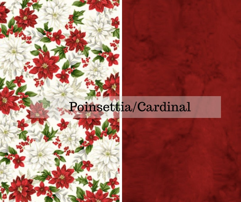 Made to order reversible double minky poinsettia cardinal car image 0