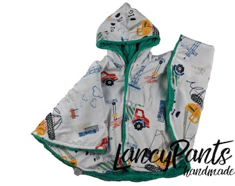 Ready to ship! Toddler (2T-4T)  reversible construction seafoam car seat poncho - winter children's poncho -infant poncho- toddler poncho