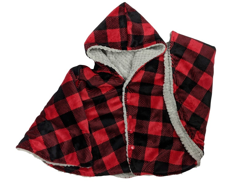 Made to order reversible double minky buffalo plaid car seat image 0