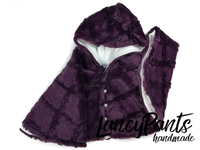 Made to order plum soft cuddle minky fleece car seat poncho  image 0