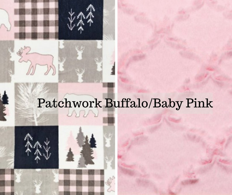 Made to order reversible double minky patchwork plaid baby image 0