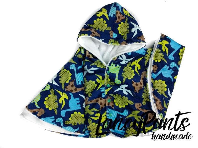 Made to order dinosaur cuddle minky fleece car seat poncho  image 0