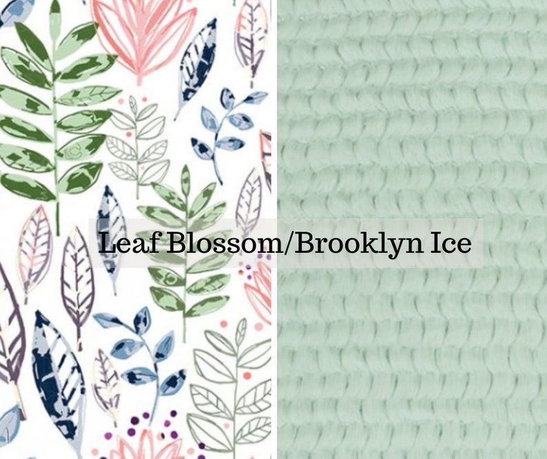 Made to order reversible double minky leaf blossom brooklyn image 0