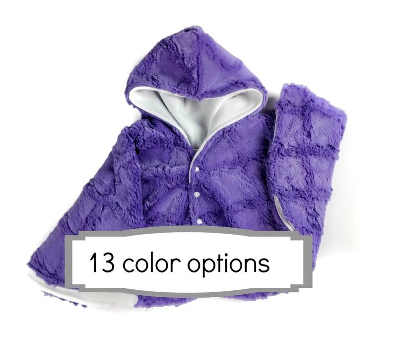 Made to order lattice cuddle minky fleece car seat poncho  image 0