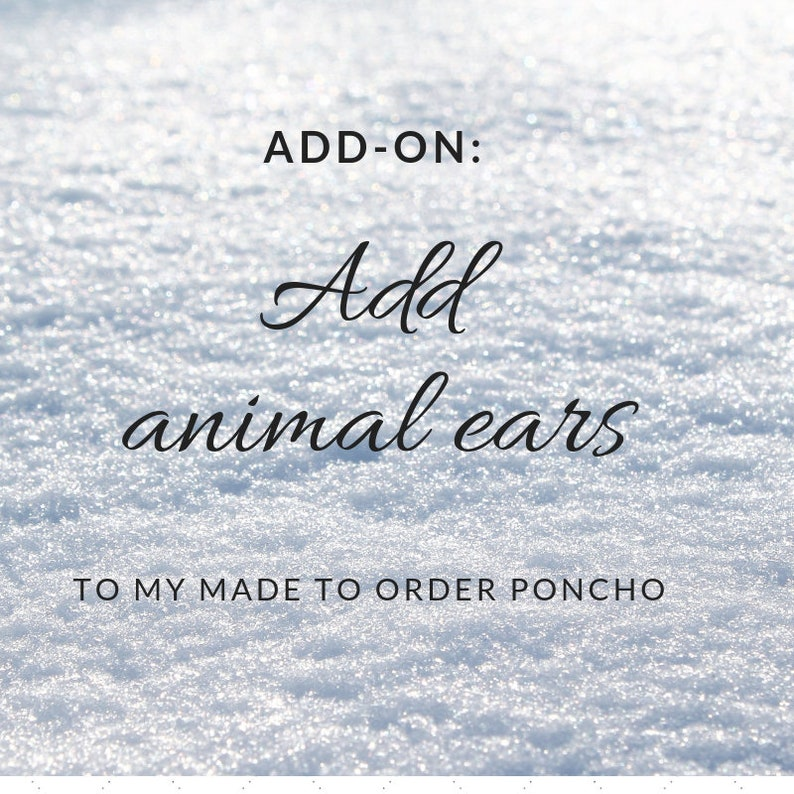 Add-On: Add animal ears/dino spikes to my made-to-order poncho image 0