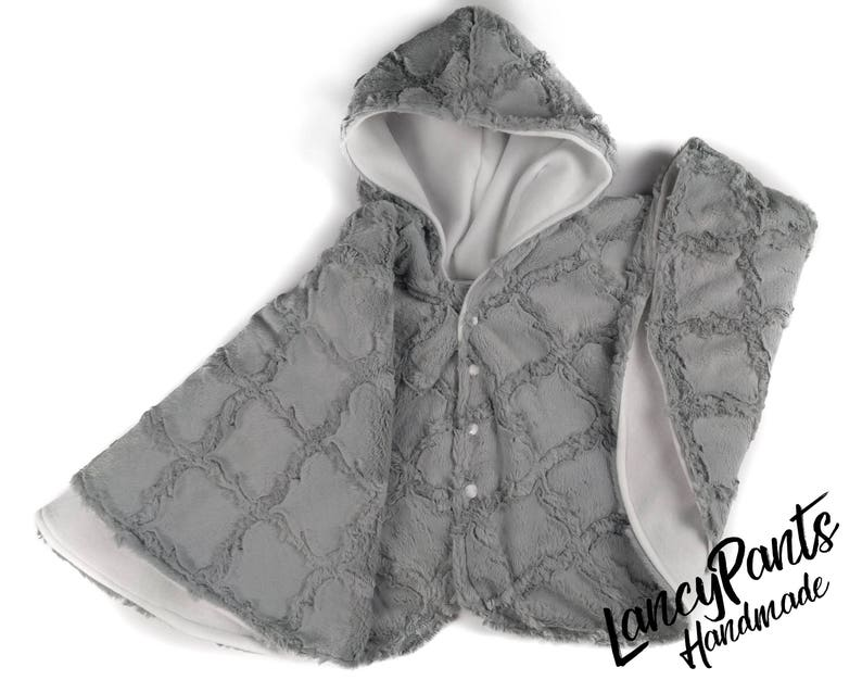 Made to order Silver Lattice soft cuddle minky fleece car seat image 0