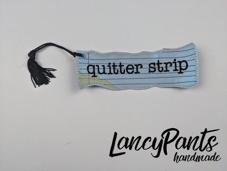 quitter strip bookmark bookworm gift christmas gift geek image 0
