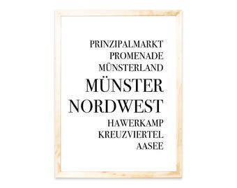 Poster, Münster, Städteprint-city