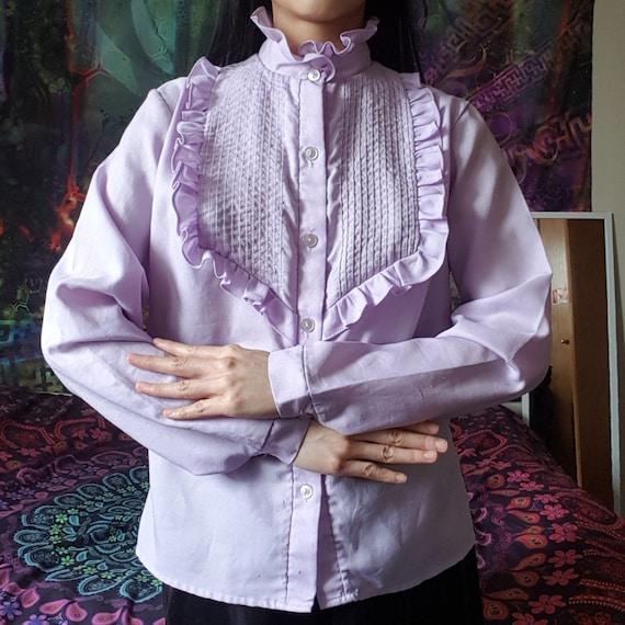 Vintage 60s 70s 80s Prairie Lilac Purple Victorian