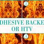 Fire Flames Pattern #2 Adhesive or HTV Heat Transfer Vinyl for Shirts Crafts and More!