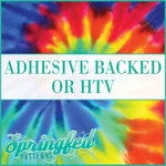 Tie Dye Pattern #1 Adhesive Vinyl or HTV Heat Transfer Vinyl for Shirts Crafts and More!