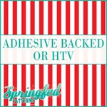 Red & White Stripes Pattern #1 Adhesive or HTV Heat Transfer Vinyl for Shirts Crafts and More!