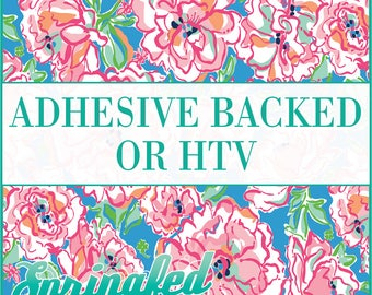 LP Inspired Floral Pattern #1 Adhesive or HTV Heat Transfer Vinyl for Shirts Crafts and More!