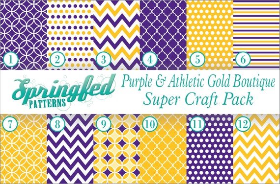 Buffalo Plaid Pattern in Purple /& Athletic Gold Adhesive Craft Vinyl or HTV!