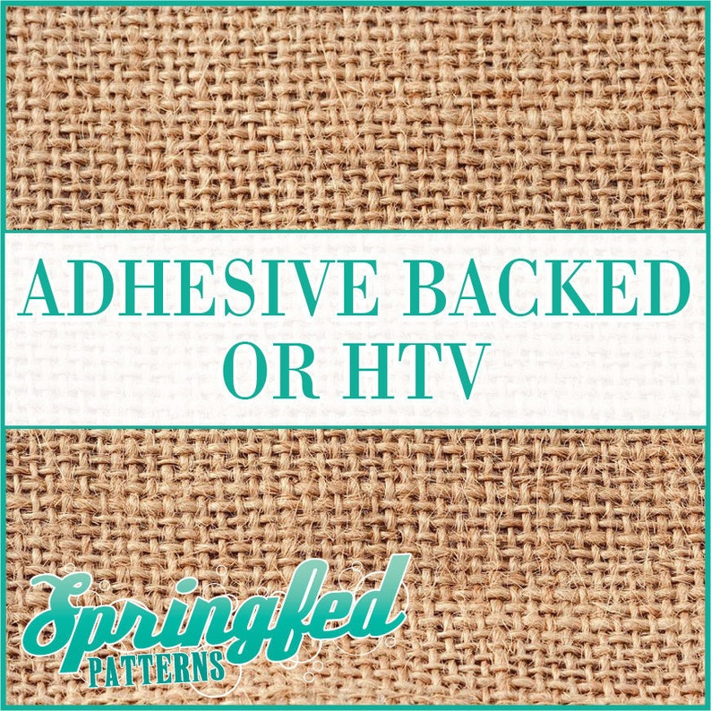 Burlap Jute Pattern 1 Adhesive Vinyl or HTV Heat Transfer image 0