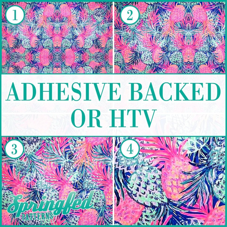 LP Inspired Pineapples Pattern 1 Adhesive or HTV Heat image 0