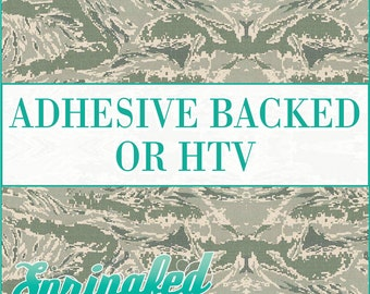 Air Force Camo Pattern Adhesive Vinyl or HTV Heat Transfer Vinyl for Shirts Crafts and More!