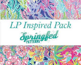 LP Inspired Pattern Craft Vinyl Project Pack #1 Choose Adhesive Vinyl or HTV Sheets