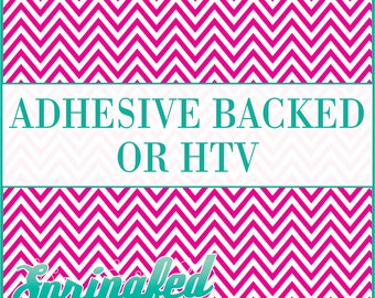 Pink & White Chevron Stripes Pattern #4 Adhesive or HTV Heat Transfer Vinyl for Shirts Crafts and More!