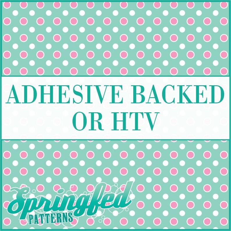 Mint & Light Pink Polka Dots Pattern 4 Adhesive or HTV Heat image 0