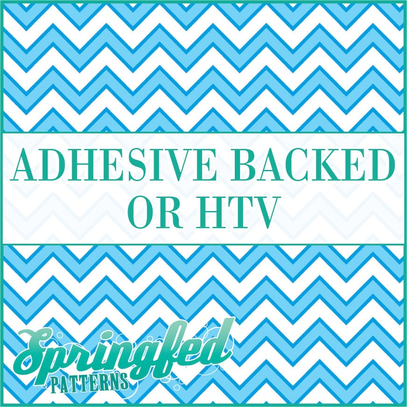 Chevron Stripes Pattern 2 in Light Blue & White Adhesive or image 0