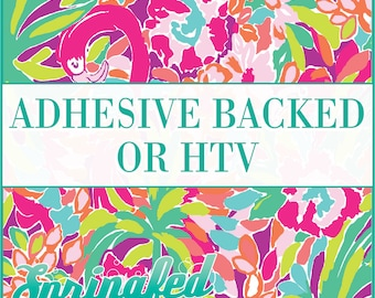 LP Inspired Flamingos Pattern #1 Adhesive or HTV Heat Transfer Vinyl for Shirts Crafts and More!
