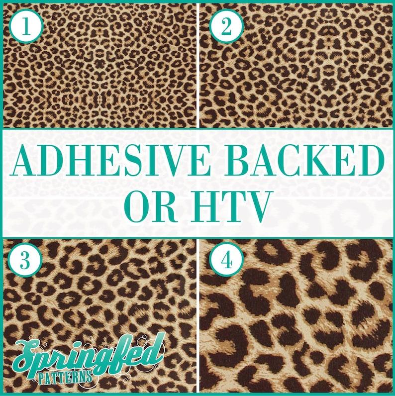 Leopard Spots Pattern 1 Adhesive or HTV Heat Transfer Vinyl image 0