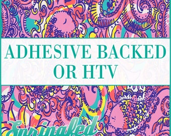 LP Inspired Paisley Fish Pattern #1 Adhesive or HTV Heat Transfer Vinyl for Shirts Crafts and More!