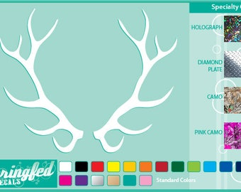ELK ANTLERS #2 cut vinyl decal Car Truck Window Sticker for Almost Anything! Hunting Hunter