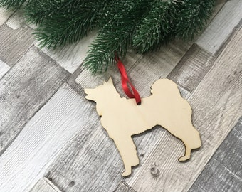 husky christmas ornament personalised wooden christmas tree decoration laser cut xmas decor stocking filler secret santa gift