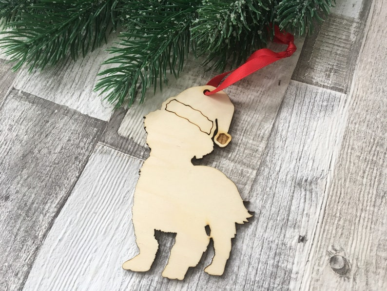 Shihtzu Christmas Ornament Personalised Wooden Christmas Tree Etsy