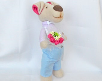 Gifts Dog doll gift for friend Christmas Gift for friends Stuffed dog Stuffed animal Baby toy Kids toy Handmade toy Gift for friends