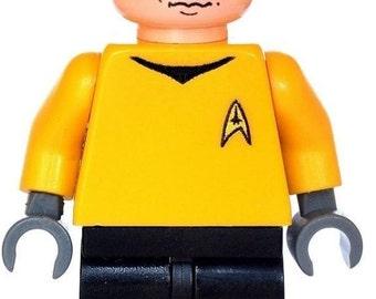 Custom Design Minifigure - Captain James Kirk (Star Trek) Printed On LEGO Parts