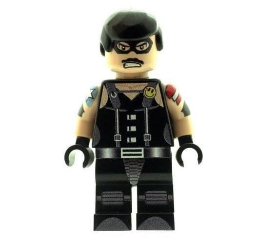 Custom Designed Minifigure The Comedian Eddie Blake Version Grey Watchmen