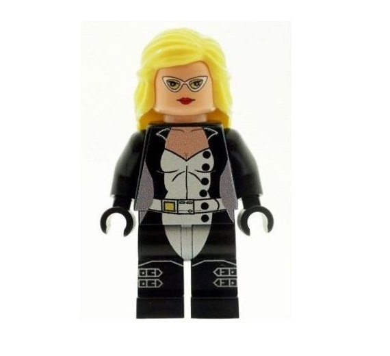 **NEW** Custom Printed BLACK WIDOW WHITE SUIT Marvel Block Minifigure