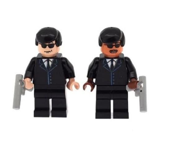 Custom Design Minifigure Agents J K Men In Black Mib Printed On Lego Parts