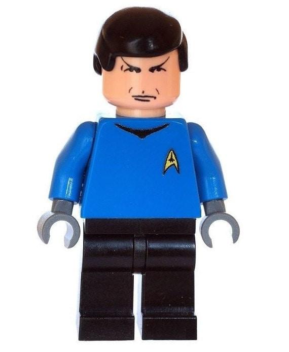 Star Trek Jean Luc Picard Printed On LEGO Parts Custom Designed Minifigure