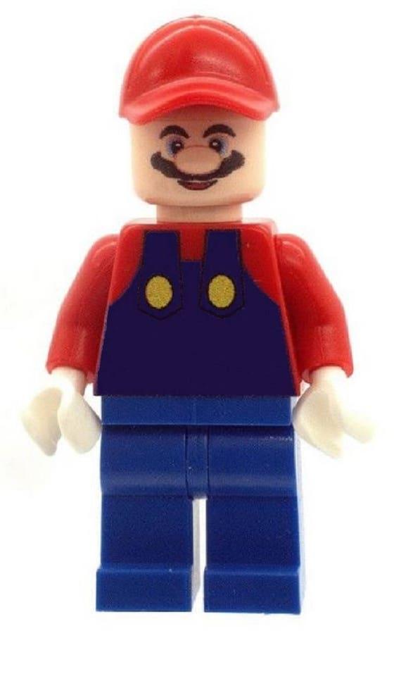 Custom Print LEGO minifigure Super Mario Character Luigi