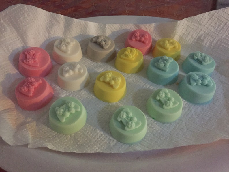 Game controller party favour soaps