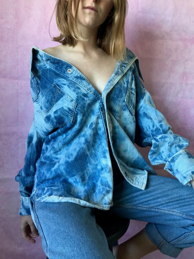 c455fdd116 Vintage 80 s 90 s acid wash denim shirt jean jacket